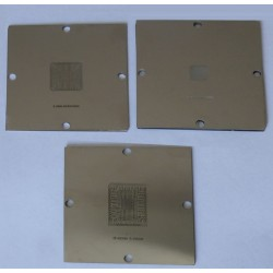 Шаблони (stencils, стенсили) 90x90мм за ребол (reball) на BGA чипове, 221 броя