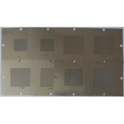 Шаблони (stencils, стенсили) 90x90мм за ребол (reball) на BGA чипове, универсална решетка, 8 броя