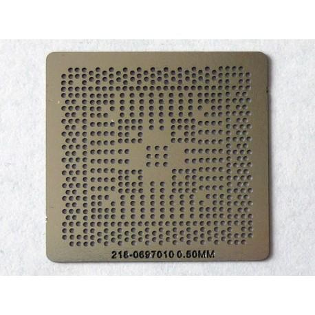Шаблон (stencil, стенсил) ATI 218-0697010 за ребол (reball) на BGA чипове