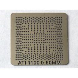 Шаблон (stencil, стенсил) ATI 1100 за ребол (reball) на BGA чипове