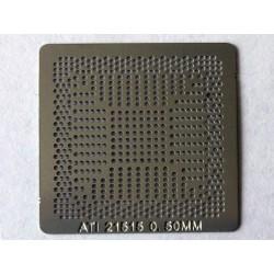 Шаблон (stencil, стенсил) ATI 21515 за ребол (reball) на BGA чипове