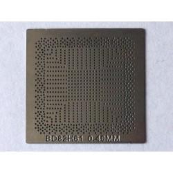 Шаблон (stencil, стенсил) Intel BD82H61 за ребол (reball) на BGA чипове