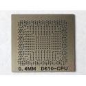 Шаблон (stencil, стенсил) Intel D510 за ребол (reball) на BGA чипове