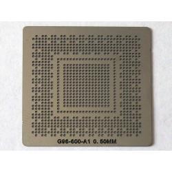 Шаблон (stencil, стенсил) nVidia G96-600-A1 за ребол (reball) на BGA чипове