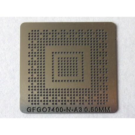 Шаблон (stencil, стенсил) nVidia GF GO7400-N-A3 за ребол (reball) на BGA чипове