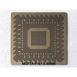Шаблон (stencil, стенсил) nVidia MCP7A-P-B1 за ребол (reball) на BGA чипове