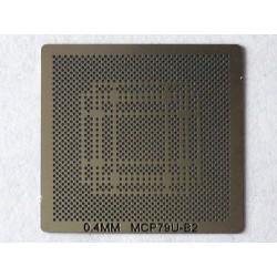Шаблон (stencil, стенсил) nVidia MCP79U-B2 за ребол (reball) на BGA чипове
