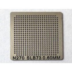 Шаблон (stencil, стенсил) Intel N270 за ребол (reball) на BGA чипове