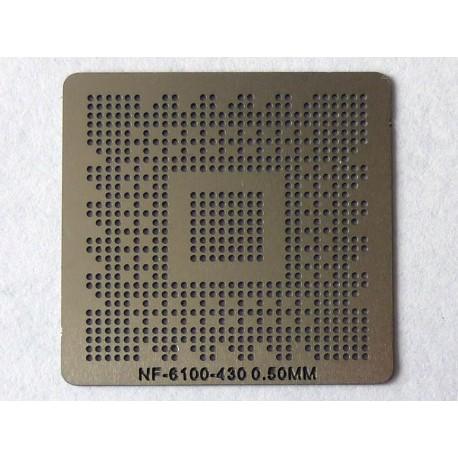 Шаблон (stencil, стенсил) nVidia NF-6100-430 за ребол (reball) на BGA чипове