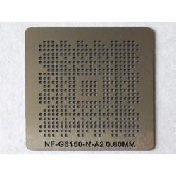 Шаблон (stencil, стенсил) nVidia NF-G6150-N-A2 за ребол (reball) на BGA чипове