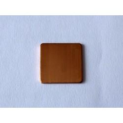Медна (copper) термоподложка за ремонт на лаптопи 15x15x0.6mm, 1 брой