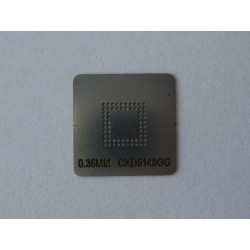 Шаблон (stencil, стенсил) CXD5148GG за ребол (reball) на BGA чипове