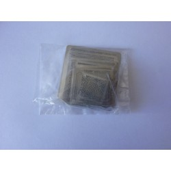 Stencils chip size for reball BGA chips, most used, 39 pcs