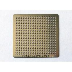 Шаблон (stencil, стенсил) chip size универсален 0.76mm P1.27 33x33mm за ребол (reball) на BGA чипове