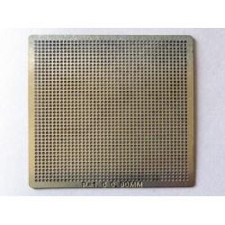 Шаблон (stencil, стенсил) chip size универсален 0.60mm P1.0 41x41mm за ребол (reball) на BGA чипове