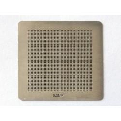 Шаблон (stencil, стенсил) chip size универсален 0.30mm 35x35mm за ребол (reball) на BGA чипове
