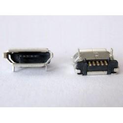 Micro-B USB Female 5P jack (букса) за платка, MIC-7, type 17