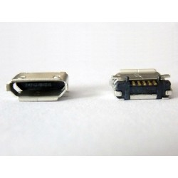 Micro-B USB Female 5P jack (букса) за платка, MIC-9, type 18