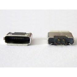 Micro-B USB Female 5P jack (букса) за платка, MIC-25, type 20