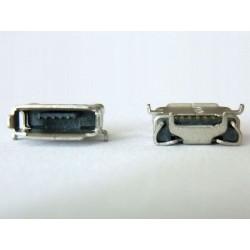 Micro-B USB Female 5P jack (букса) за платка, MIC-31, type 21