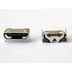 Micro-B USB Female 5P jack (букса) за платка, MIC-38, type 24