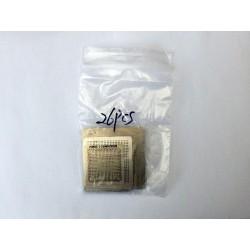 Шаблони (stencils, стенсили) за ребол (reball) на BGA чипове, най-често използваните, 26 броя