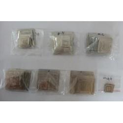 Стенсили (шаблони) за ребол (reball) на BGA чипове, 320 броя