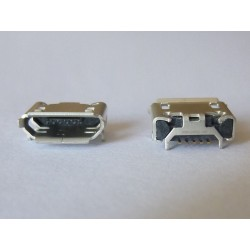 Micro-B USB Female 5P jack (букса) за платка, MIC-41, type 25