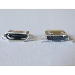 Micro-B USB Female 5P jack (букса) за платка, MIC-42, type 26