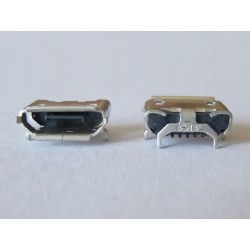 Micro-B USB Female 5P jack (букса) за платка, MIC-46, type 28