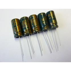 Електролитен кондензатор Sanyo 1000µF, 35V, 10x20mm, 5 броя