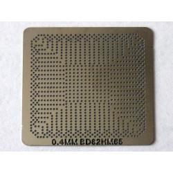 Шаблон (stencil, стенсил) Intel BD82HM65 за ребол (reball) на BGA чипове