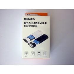 Кутия за външна батерия (Power bank) Haweel HWL9400 за 2 батерии (5600mAh)