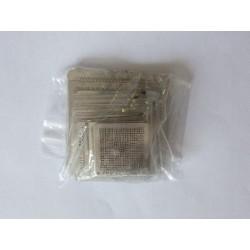 Шаблони (stencils, стенсили) за ребол (reball) на BGA чипове, най-често използваните, 48 броя