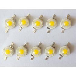 LED диоди CREE, 1W,  топло бяло, 100-110LM, 10 броя, нови