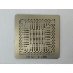 Шаблон (stencil, стенсил) chip size Intel SR17E за ребол (reball) на BGA чипове