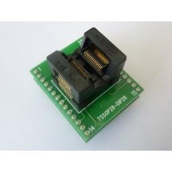 Адаптер 170mil TSSOP28 към DIP28 600mil за програматор