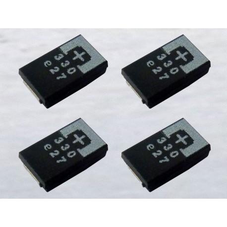 Комплект SMD танталови кондензатори 2R5TPE330M9, 330µF, 2.5V, POSCAP, 4 броя