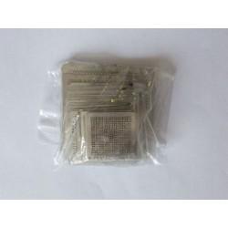 Шаблони (stencils, стенсили) за ребол (reball) на BGA чипове, най-често използваните, 47 броя