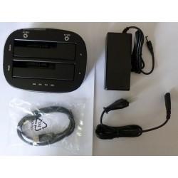 Докинг станция Orico 6228US3-C (2 слота) USB 3.0 за 2.5 и 3.5 инчови SATA дискове, нова