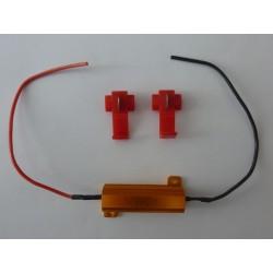 Тестов резистор (Car LED DRL Fog Turn Singal Load Resistor for Fix LED Bulb), 50W, 6Ohm, нов