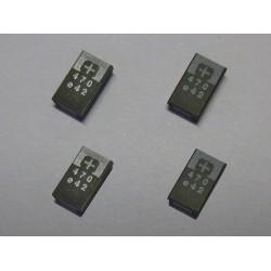 Комплект SMD танталови кондензатори 2R5TPE470M9, 470µF (470uF), 2.5V, POSCAP, 4 броя