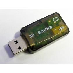 USB 2.0 звукова карта (вход за микрофон и изход за слушалки, говорители), нова