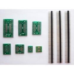 Комплект адаптери PCB платки SOP, MSOP, SSOP, TSSOP, SOT23 към DIP за програматори