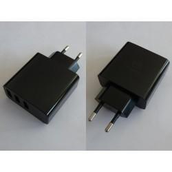 Захранващ адаптер Mcdodo HKL-USB32, USB, 5V, 3A, 3 порта, с дисплей, нов