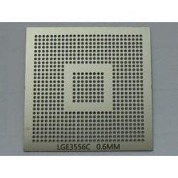 Шаблон (stencil, стенсил) chip size LGE3556C за ребол (reball) на BGA чипове