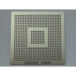 Stencil template chip size LGE3556C for reballing BGA chips