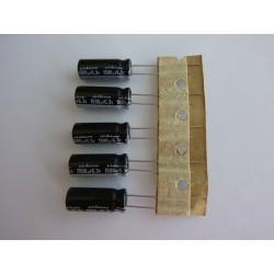 Електролитен кондензатор Nichicon 1500µF, 6.3V, 8x20мм, 5 броя