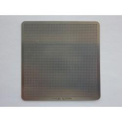 Шаблон универсален 50x50мм 0.55мм 1.02мм 47x47 (размери/топче/стъпка/решетка) за ребол на BGA чипове