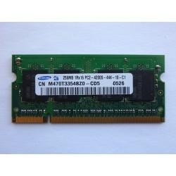 RAM памет Samsung 256MB DDR2 533MHz 1.8V SO-DIMM, втора употреба